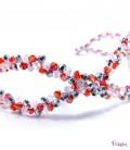 Tocado tiara cristales rojo