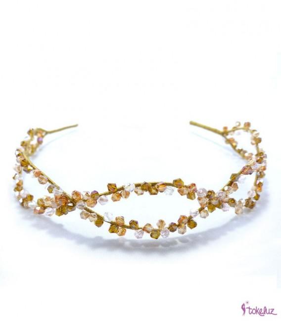 Tocado diadema tiara cristales
