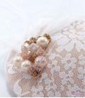 Tocado encaje cristales plumas vintage
