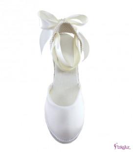 Alpargatas novia seda natural