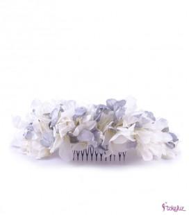 Semicorona de hortensias flores preservadas tocado