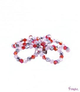 Broche cristales flor