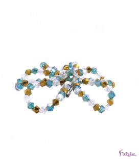 Broche cristales hecho a mano